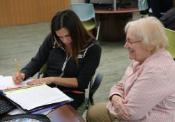 Tutoring a student in the learning center