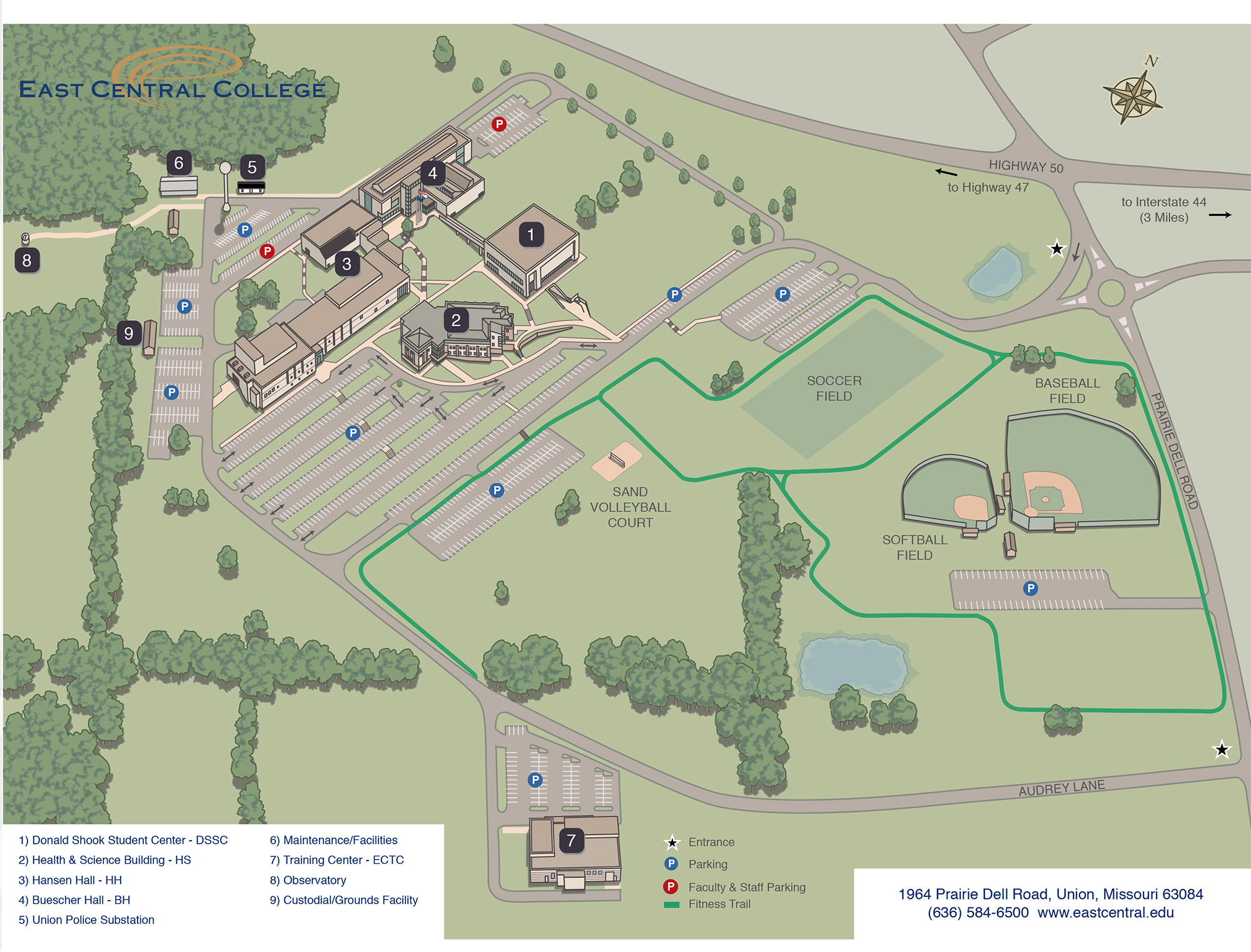 Directions To Main Campus Locations