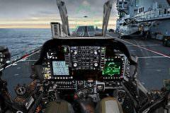 Cockpit of a fighter jet