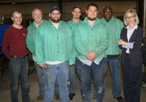 students who completed MIG welding classes at Clemco Industries