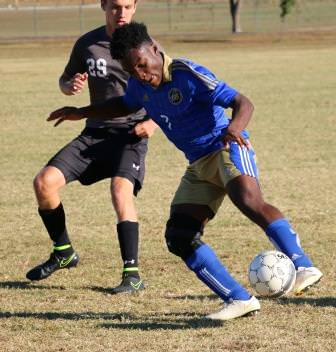 Freshman Umoh Ufot was one of three freshmen contributing to ECC's second half offense against McKendree JV.