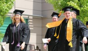 The commencement processional at East Central College May 14.
