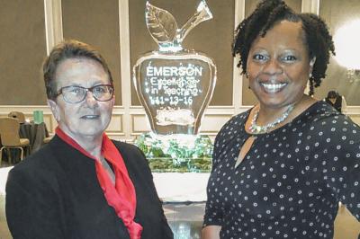Patsy Watts with V.P. of Instruction Dr. Tia Robinson